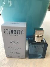 AUTHENTIC 1 OZ CALVIN KLEIN ETERNITY AQUA MEN EAU DE TOILETTE SPRAY TRAVEL SIZE