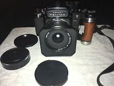 Pentax 67 Kit 45mm Lens Wood Grip