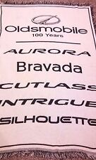 Oldsmobile Blanket 100 Years 68X44 Aurora Bravada Cutlass Intrigue Silhouette