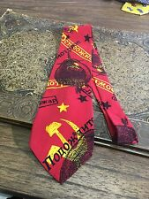 BEATLES NECKTIE MUSIC APPLE BACK IN THE USSR RUSSIA RARE TIE FREE SHIPPING