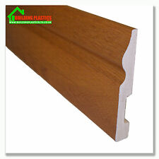 Plastic Skirting Board Golden Oak Effect Plastic 100mm x  2.9m Long