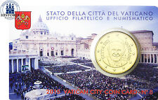 Vatikan 50 Cent 2015 Stgl. Papst Franziskus in Coin Card Nr. 6 Petersplatz