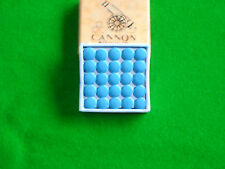 BOX OF 50 x 12mm Cannon Blue Velvet snooker pool cue tips
