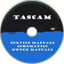 Tascam Hifi Service Manuals & Schematics- PDFs on DVD -Huge Collection-SRManuals