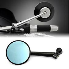 Universal Smoke Blue Round CNC Rearview Side Mirrors Fit BMW KTM Motorcycles