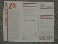 "*Bev Doolittle ""PINTOS"" Certificate of Authenticity/Registration for Fine Art*"
