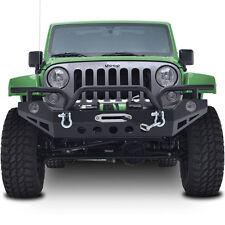 07-16 Jeep JK Wrangler Full Width Rock Crawler Front Bumper+Fog Light Hole+4x4