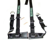 "Takata DRIFT II 4 Point Snap-On 2"" Racing Seat Belt Harness (Black)"