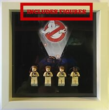 Lego Frame Ghostbusters custom minifigure Display Case Picture + Figures
