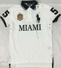 Ralph Lauren Men's Custom Fit Polo Shirt Miami New With Tags White Size Medium