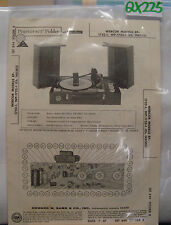 SAMS PHOTOFACT FOLDER MANUAL & SCHEMATIC TURNTABLE WEBCOR WP-1752-1 & EP-1752-1