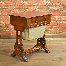 Antique Sewing Table, Victorian Work Table, English Needlework Box, c.1860