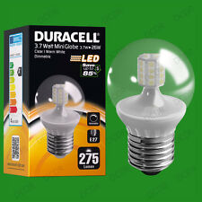 8x 3.7W Dimmable Duracell LED Clear Mini Globe Instant On Light Bulb ES E27 Lamp