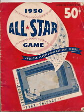 1950 All Star Game Program @ Comiskey Schoendienst Delivers in 14th NICE!!