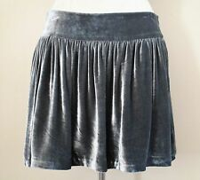 Bird Juicy Couture Mini Skirt gray velvet Large Ladies
