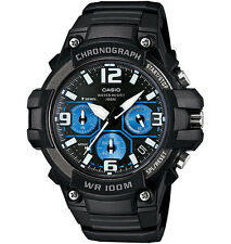 Casio MCW100H-1A2V, Chronograph Watch, Black Resin Band, 100 Meter WR, Date