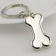 Cute Metal Silver Dog Bone Keychain Key Chain Ring Keyring Key Fob Pendant Gift