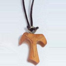 Taukreuz Halskette  aus Olivenholz Taufe , Geburt #13FR2320