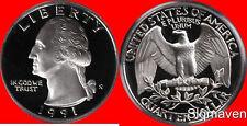 1991 S Washington Quarter Deep Cameo Gem Proof  No Reserve