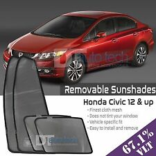 Custom Fit Mesh Sun Block Visor UV Protection 4-Piece 2012-2015 Honda Civic