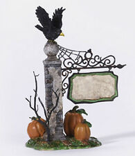 Dept 56 SV SPOOKY VILLAGE SIGN Halloween Snow Village Accessory NEW MIB