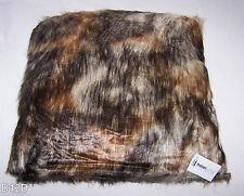 Hotel Living Faux Fur Fox 45cm x 45cm Filled Decorative Cushion New
