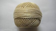 Light Cream & Gold Lurex-20 grams Cotton Thread Yarn-Crochet Embroidery Knitting