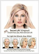 Secret Lift Instant Face and Neck Lift (Light Hair) Facelift Tapes and Bands