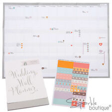 WEDDING WALL PLANNER-Undated Calendar-Fits in to Wedding Planner-Engagement Gift