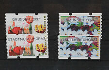 AUSTRIA MACHINE STAMPS ATM 55 CENTS  FLOWERS 2007 STADTSMUSEUMGRAZ 8