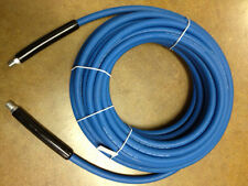 """100' CARPET CLEANING HIGH PRESSURE SOLUTION HOSE 1/4"""" BLUE NEW 3000 PSI"""