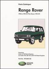 Range Rover Parts Catalogue 1992-1994 Incl. Classic 1995 RR95PH NEW