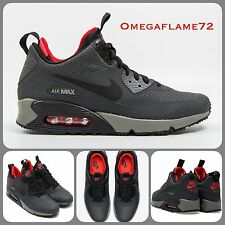 Sz 6 Nike Air Max 90 Sneaker Boot Mid SP Winter Print Black Grey Red 806850-006