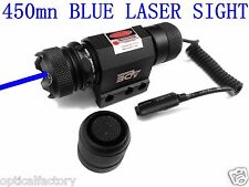 450nm Strong BLUE/Violet LASER Sight w/ Pressure Switch & Rail Mount red green