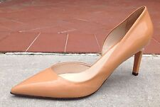 Max Mara Women's Shoes Beige Patent Leather Pointy Toe Pumps Heels Sz 7.5 (37.5)