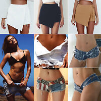Women's Ladies Casual Ripped High Waisted Shorts Pant Sexy Summer Denim Hotpants