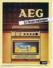 PUBLICITE ADVERTISING 095 1981 AEG four le beau ménager