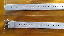 WATCH BAND BRACELET MONTRE SIMILI CUIR  blanc ////  18mm ///// REF.CZ72 : 27 cm