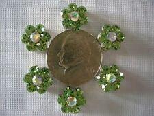 2 Hole Slider Beads Daisy Green Crystal Made with Swarovski Elements #7