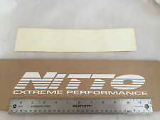 "ONE NEW Small White NITTO Tires Windshield Vinyl Sticker Decal 12"" x 2"""
