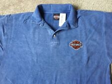 Harley Davidson Bar and Shield Blue Polo Shirt NWT  Men's XL
