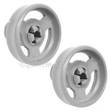2 x Genuine Indesit Lower IDL40 Basket Rack Wheel Dishwasher Wheels Spare Part