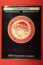 PANINI CHAMPIONS LEAGUE 2013/14 N. 188 BADGE OLYMPIACOS BLACK BACK MINT!
