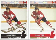 1976 Canada Cup Bobby Orr Factory Gold Foil Autograph  Card # 126