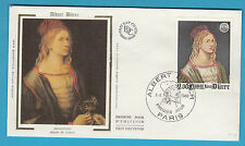 BUSTA Francia FDC 1980 Albert Durer AUTORITRATTO ANNULLO Parigi FIRST DAY COVER