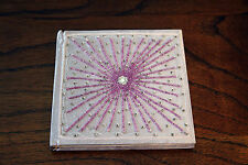 Handmade Book / Paper Journal Girls Diary Pink / Purple with Beads on Cover