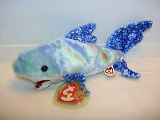 Ty Beanie Babies - CHOMPERS 2004 Multi Blue Colored Shark, BOM (C716)