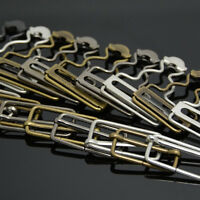 New 2 x Dungaree Fasteners Clip/Brace Buckles in Silver or Bronzes Hot