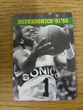 1981/1982 Fixture Card: Basketball - Seattle Supersonics (fold out style). Any f