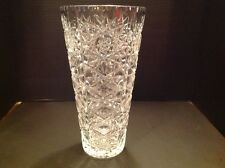 Crystal Vase  Large American Brilliant Cut AB
